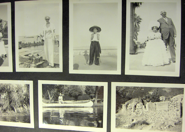 An unlabeled amateur photo album of travel and family life in Southern California before World War II, ca. 1940-1941. California.