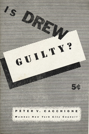 Is Drew Guilty? [wrapper title]. Peter V. Cacchione.
