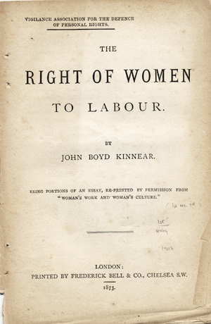 The Right Of Women To Labour    Being Portions Of An Essay Re  The Right Of Women To Labour    Being Portions Of An Essay Reprinted  By Permission From Womans Work And Womans Culture