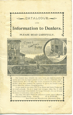 Catalogue and Information to Dealers. Please Read Carefully . . . [caption title]. Trade Catalogue, H. B. Rusler.