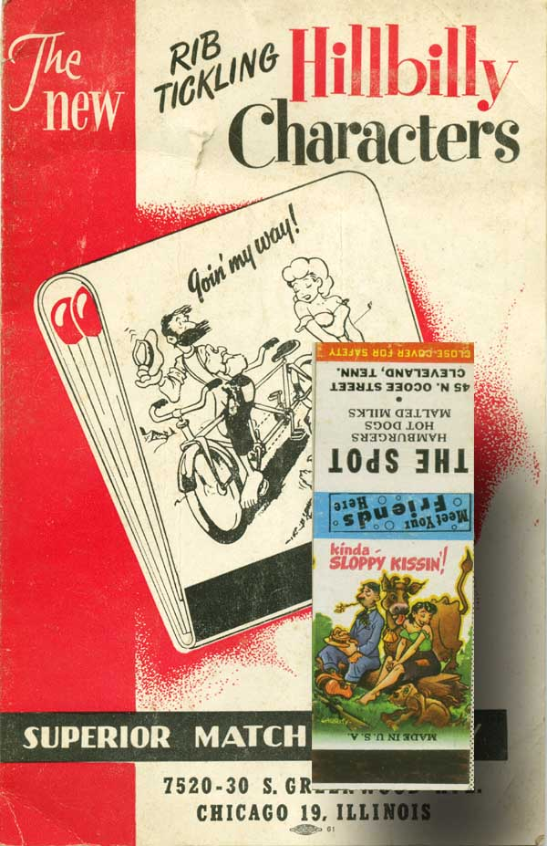 The New Rib Tickling Hillbilly Characters [cover title]. Sample Book, Superior Match Company.