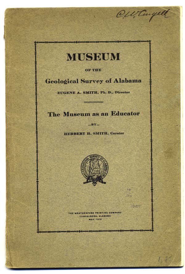 The Museum as an Educator [wrapper title and caption title]. Alabama, Herbert Smith, untington or Huntingdon.