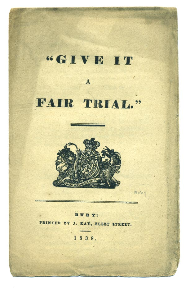"""Give it a Fair Trial."" Poor Law Satire, Anonymous."