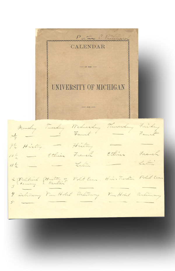 Calendar of the University of Michigan for 1889-90. John Dewey, University of Michigan.