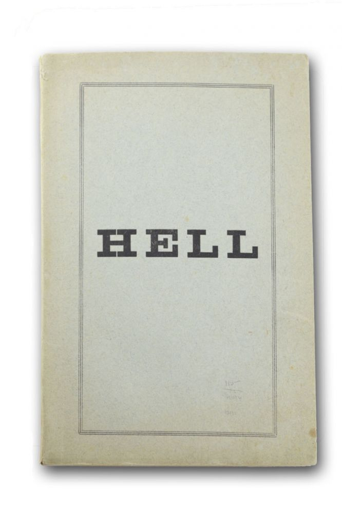 Hell per a Spirit-Message Therefrom (Alleged) . . . a Study in Graphic-Automatism. Eccentric, John Armstrong Chaloner, or Chanler.