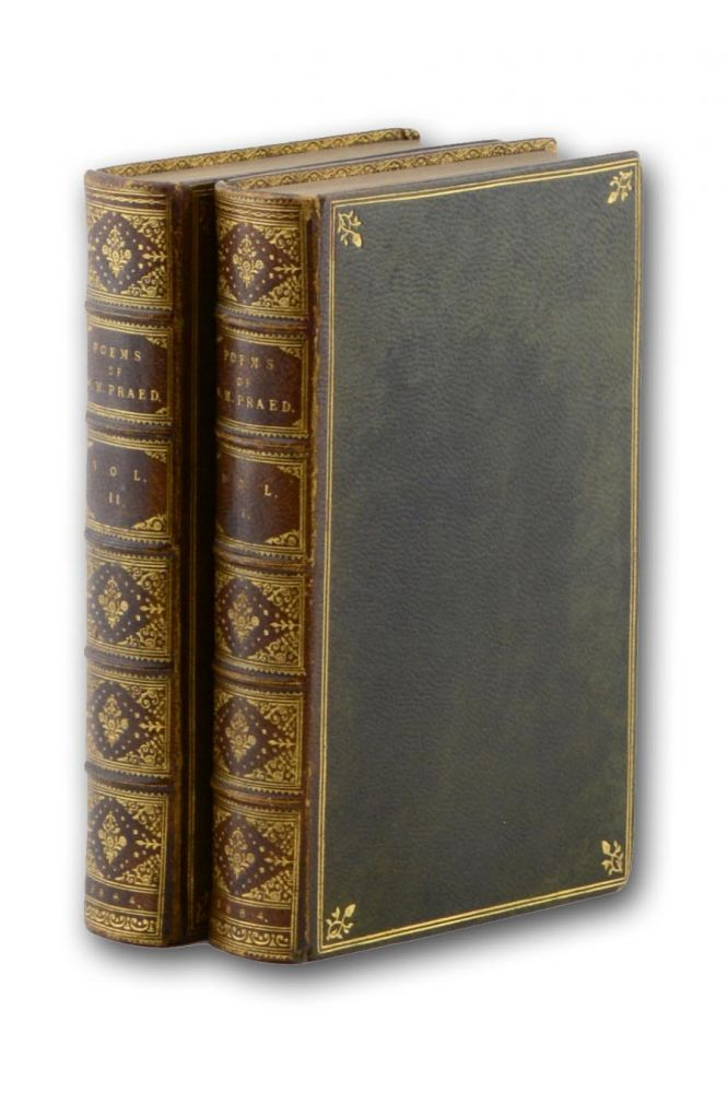 The Poems of Winthrop Mackworth Praed. With a Memoir by the Rev. Derwent Coleridge. Second Edition. Binding, Winthrop Mackworth Praed.