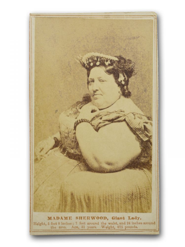 Carte De Visite CDV Studio Portrait Of Madame Sherwood Giant Lady