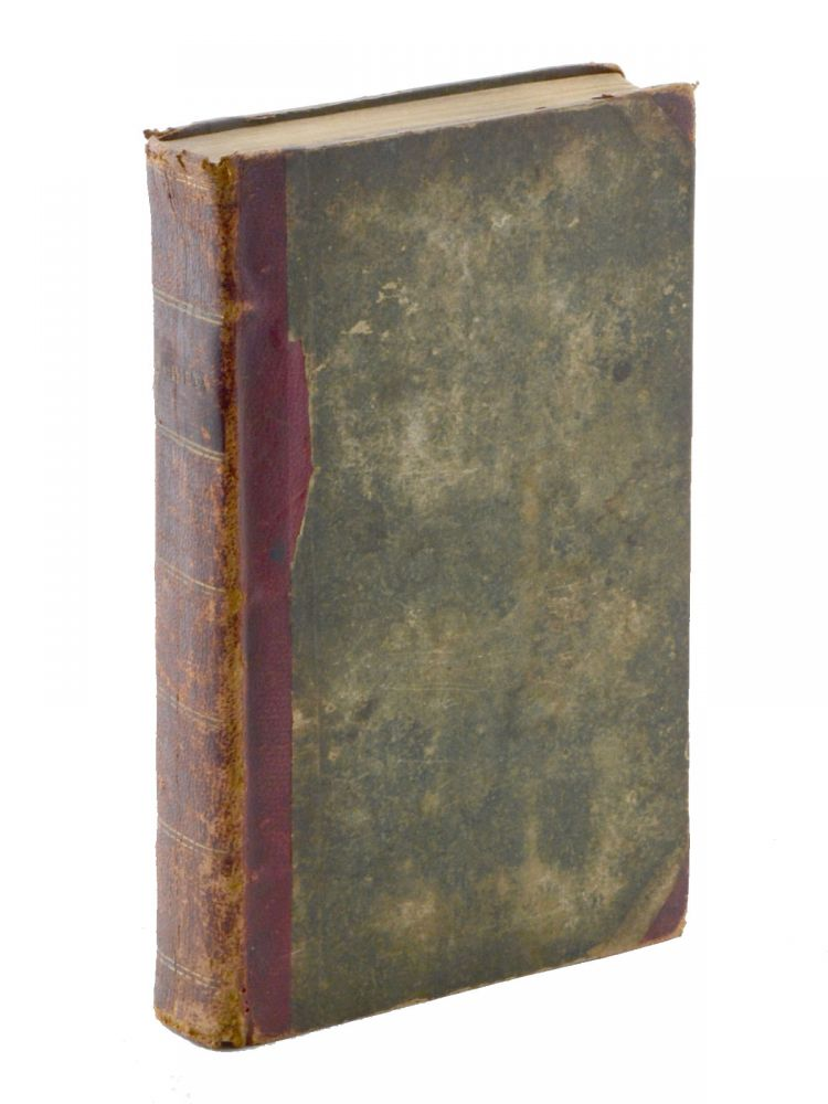 """Nonce volume with the spine title, Variety. (1) Bellegarde, [Jean Baptiste Morvan]. Politeness of Manners and Behaviour in Fashionable Society, From the French of the Abbé de Bellegarde. Paris: Sold at Galignani's, 1817. Frontispiece; [x], 168 pp.(2) [Irving, Washington]. The Sketch Book of Geoffrey Crayon, Gent. No. V. New-York: Printed by C. S. Van Winkle, 1819. [337]-443, [1] pp. (3) """"The Vampyre; a Tale by Lord Byron."""" [etc., in:] Spirit of the English Magazines [caption title]. Published half-monthly, by Munroe and Francis. Vol. V, no. 6. Boston, June 15, 1819. (4) Frisbie, Levi. Inaugural Address, Delivered in the Chapel of the University at Cambridge, November 5, 1817. Cambridge: Printed at the University Press, by Hilliard & Metcalf, 1817. 28 pp. (5) [Morton, Sarah Wentworth]. Ouâbi: or the Virtues of Nature. An Indian Tale in Four Cantos. By Philenia, a Lady of Boston [pseud]. Boston: I. Thomas and E. T. Andrews, 1790. 51, [1] pp. (6) [Extracted fragment with the running title:] The Melodist. 179-194 pp. Nonce Volume, Exotics, Sarah Wentworth Apthorp Morton, John Polidori."""