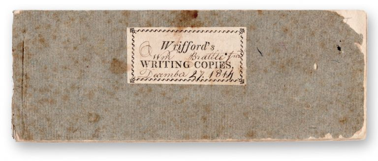 A New Plan of Writing Copies, with accompanying explanations and remarks, written, designed, and systematically arranged . . Penmanship, A. Wrifford, Allison.