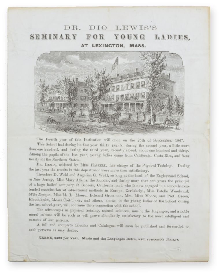Dr. Dio Lewis's Seminary for Young Ladies, at Lexington, Mass. [caption title]. Education, Women.