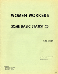 Women Workers: Some Basic Statistics [wrapper title]. Lise Vogel
