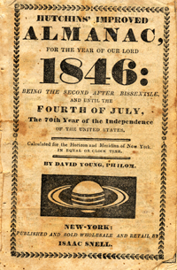 Hutchins' Improved Almanac, for the Year of Our Lord 1846 . . David Young.