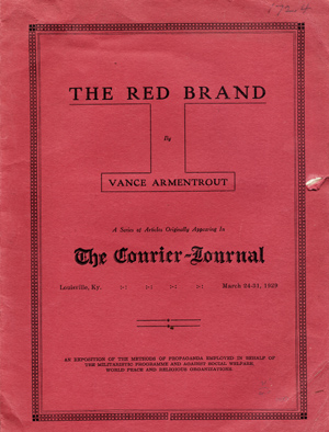 The Red Brand . . . A Series of Articles Originally Appearing in the Courier-Journal, Louisville,...