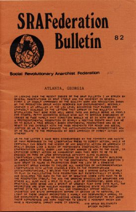 SRAFederation Bulletin. 82. Social Revolutionary Anarchist Federation.