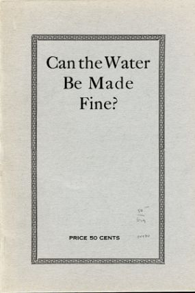 Can the Water Be Made Fine? Southern Politics and Women. Primaries, Prohibition, the Negro...