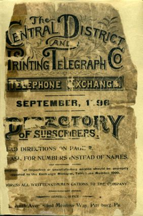 List of Subscribers, September, 1896. Central District, Printing Telegraph Co