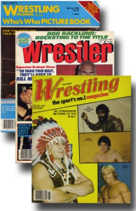 Small collection of magazines and programs relating to professional wrestling. Semiotics,...