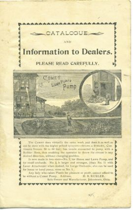 Catalogue and Information to Dealers. Please Read Carefully . . . [caption title]. Trade...