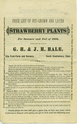 Price List of Pot-Grown and Layer Strawberry Plants for Summer and Fall of 1880, Grown and For...