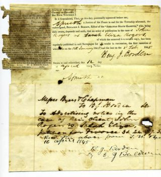 Manuscript legal complaint from John Rogers (in a solicitor's hand) for divorce from his wife...