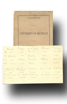 Calendar of the University of Michigan for 1889-90. John Dewey, University of Michigan