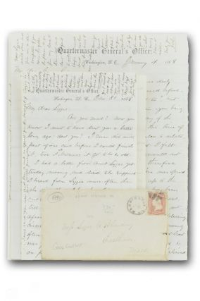 Two autograph letters, signed, from the Quartermaster General's Office, to Lizzie C. Blanding in Eastham (Cape Cod), Mass.
