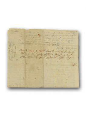 Manuscript deed conveying a tract of land in Rochester, Plymouth County, Massachusetts to Benjamin Clap (Clapp), endorsed by Indian missionary Josiah Cotton as Register of Deeds.