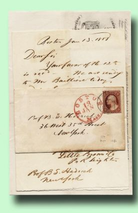 Autograph note, signed, from Little, Brown & Co. to Prof. B. S. Hendrick in New York, about...