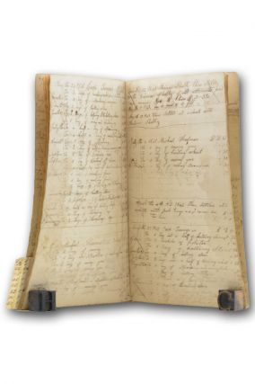 Manuscript labor and trade ledger for an Adams County, Pennsylvania farmer. Pennsylvania, Samuel...