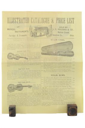 Illustrated Catalogue & Price List of Musical Instruments, Foreign & Domestic . . . [caption title]. Banjo, Fiddle, Accordion, J. R. Holcomb, Co.