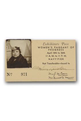 Exhibit Pass Women's Pageant of Progress. Women, Mrs. Eva Lawton, Reform