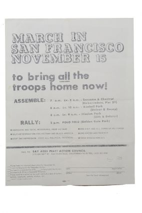 March in San Francisco November 15 to bring all the troops home now! [caption title]. Vietnam...