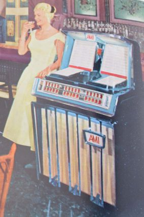 "The New AMI Jubilee ""J"" Juke Box . . . [wrapper title]. Music, Advertising, Automatic Musical Instrument Co."