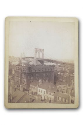 Fine albumen print of the Brooklyn Bridge. Brooklyn, Photography