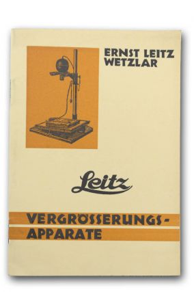 Leitz Vergrößerungs-Apparate. Photography, Ernst Leitz