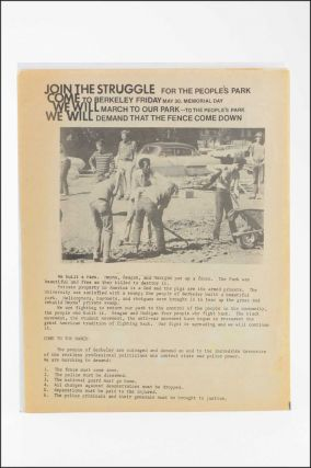 Join the Struggle for the People's Park. Come to Berkeley Friday May 30, Memorial Day . . ....