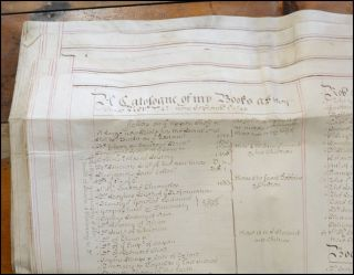 Fine probate of will for Bristol distiller and Alderman Arthur Taylor, including an inventory of his library by shelf and instructions for its distribution. Library Catalog, obit 1745 Arthur Taylor.