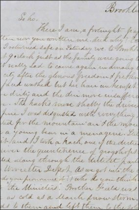 Autograph letter with integral stampless cover, signed, to Harvard classmate John Noble in Great...