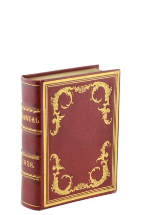 Manual for the Use of the Legislature of the State of New-York, for the Year 1858. American Trade Binding, Secretary of State Gideon Tucker.