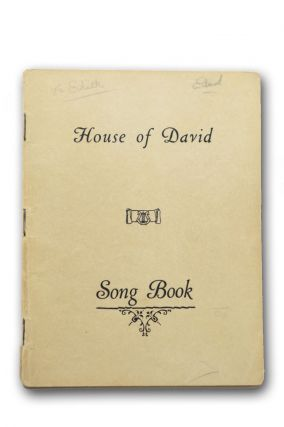 House of David Song Book [wrapper title]. House of David.