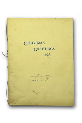 Christmas Greetings 1935. Mary Purnell.