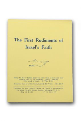 The First Rudiments of Israel's Faith [wrapper title]. City of David, Mary Purnell.