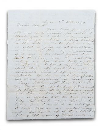 Autograph letter, signed S. V. Sickles, to Mr. B. V. French, Jr., of Brattleboro, Vt., describing...