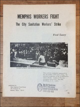 Memphis Workers Fight. The City Workers' Strike [wrapper title]. Fred Lacey.
