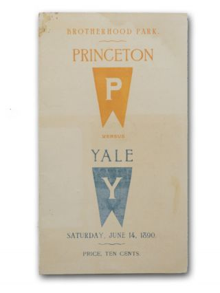 Original printed scorecard, completed (through 6-1/2 innings) in pencil, for the Princeton-Yale...