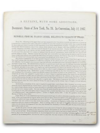 A Reprint, With Some Additions, of Document: State of New York, No. 26. In Convention, July 12,...