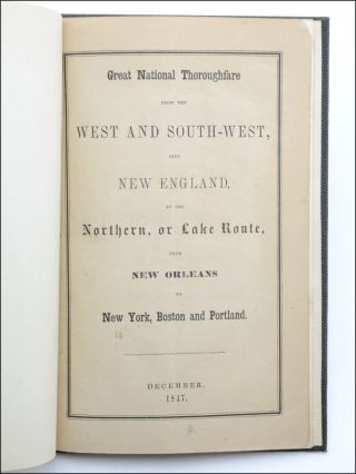 Great National Thoroughfare from the West and South-West, into New England, by the Northern, or...