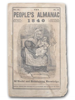 The People's Almanac 1840. American Humor.