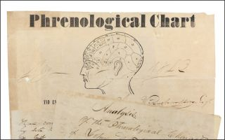 Phrenological Chart and Examination of the Cranium of Jno. W. Richardson, Esq. by H. Lee . . ....