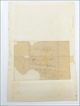 Substantial autograph letter fragment, signed, to Reuben Shattock [i.e., Shattuck], then serving at the siege of Boston during the American Revolutionary War.